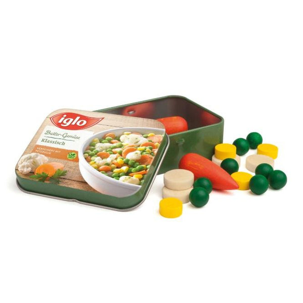 Vegetables Iglo in a Tin
