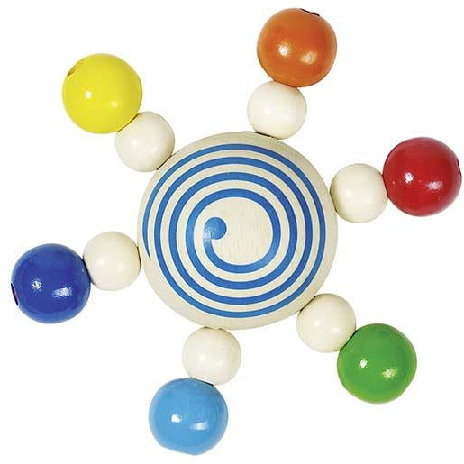 Heimess Touch ring spinning top with pearls - toybox.ae