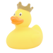 Yellow Duck with Crown - design by LILALU - toybox.ae