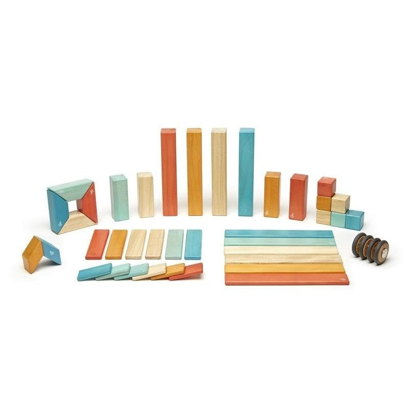 42 Piece Tegu Magnetic Wooden Block Set, Sunset