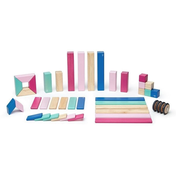 42 Piece Tegu Magnetic Wooden Block Set, Blossom
