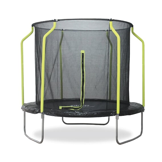 PLUM 8FT WAVE SPRINGSAFE TRAMPOLINE & ENCLOSURE PVC (COLOR BOX)