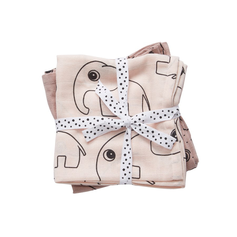 Done by Deer Burp cloth, 2-pack, Contour, powder - toybox.ae