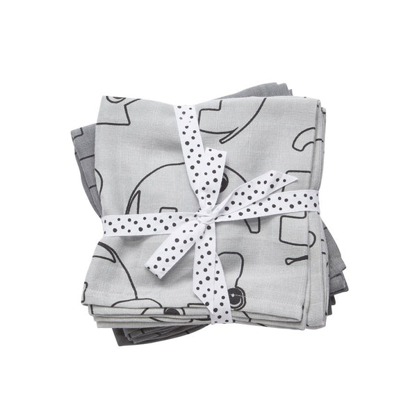 Done By Deer Contour Swaddle 2 - Pack Grey - toybox.ae