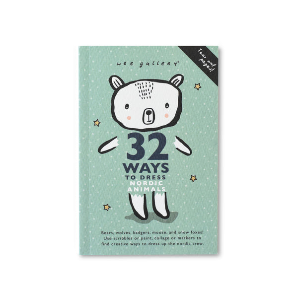 Wee Gallery 32 Ways to Dress Nordic Animals - Coloring Activity Book - toybox.ae