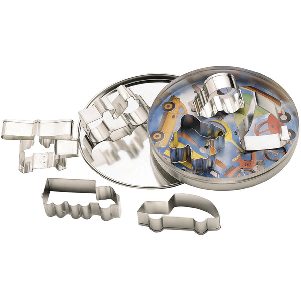 LET´S MAKE TRANSPORT METAL COOKIE CUTTER SET - toybox.ae