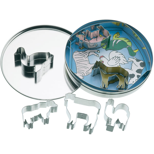 LET´S MAKE FARM ANIMALS METAL COOKIE CUTTER SET - toybox.ae