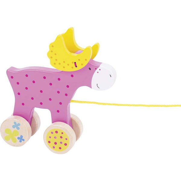 Susibelle pull along animal moose - toybox.ae