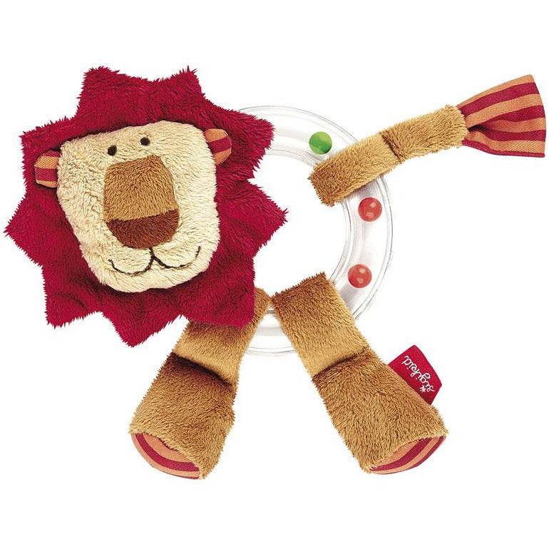 Sigikid Rattle Ring Lion - toybox.ae