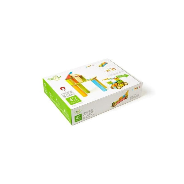 Tegu Magnetic Building Blocks 42-piece Set Tints - toybox.ae