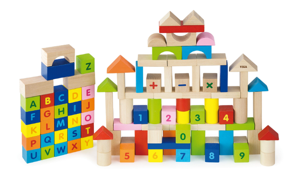 100pcs Block Set - Alphabet & Numbers - toybox.ae