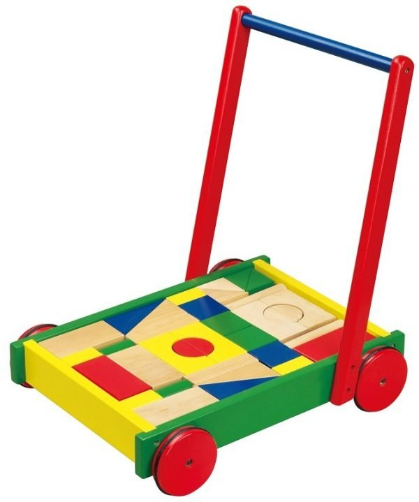 Baby Walker with Blocks - toybox.ae