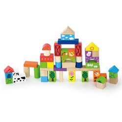 Viga 50pcs Block Set - Farm