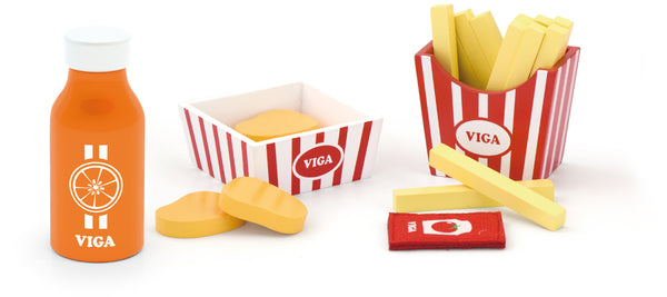 Nuggets & Fries w/Juice Play Set - toybox.ae