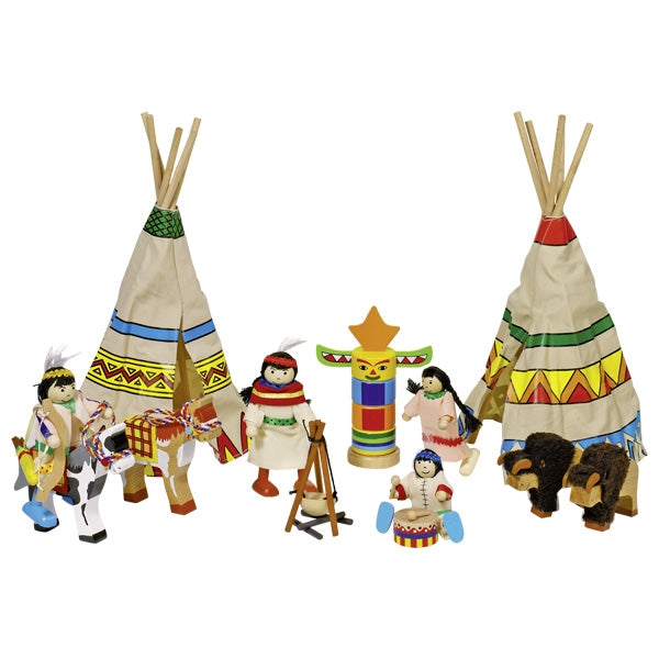 Goki Flexible Puppets Indian camp - toybox.ae
