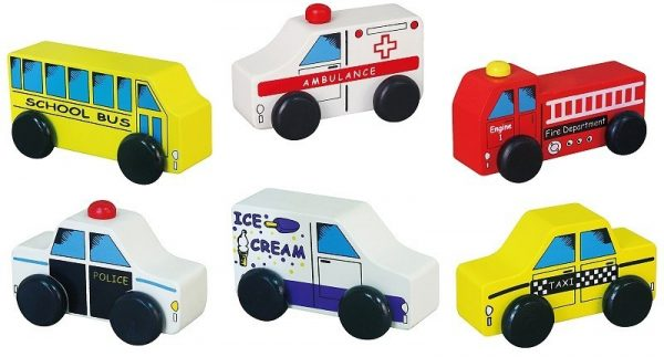City Vehicles 6pcs Set - toybox.ae
