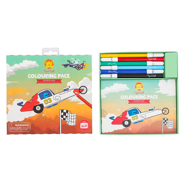 <html>Colouring Pack - Supercars<sup> </sup></html> - toybox.ae