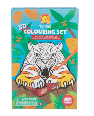 3D Colouring Set - Fierce Creatures - toybox.ae