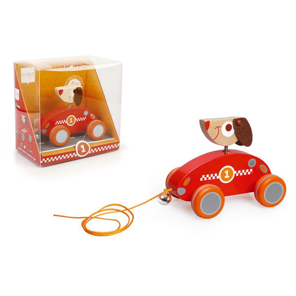 Scratch Pull Along Cart César - toybox.ae