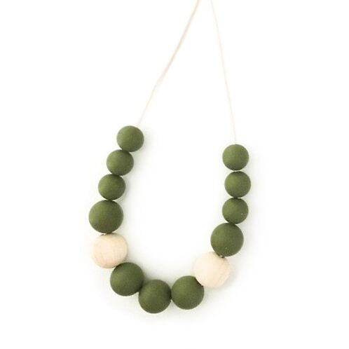 One.Chew.Three - Evie Necklace - Olive