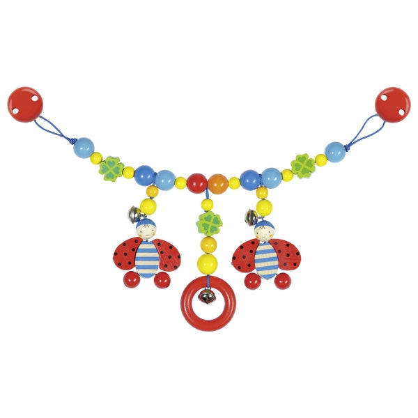 Pram Chain Ladybird with Clips - toybox.ae