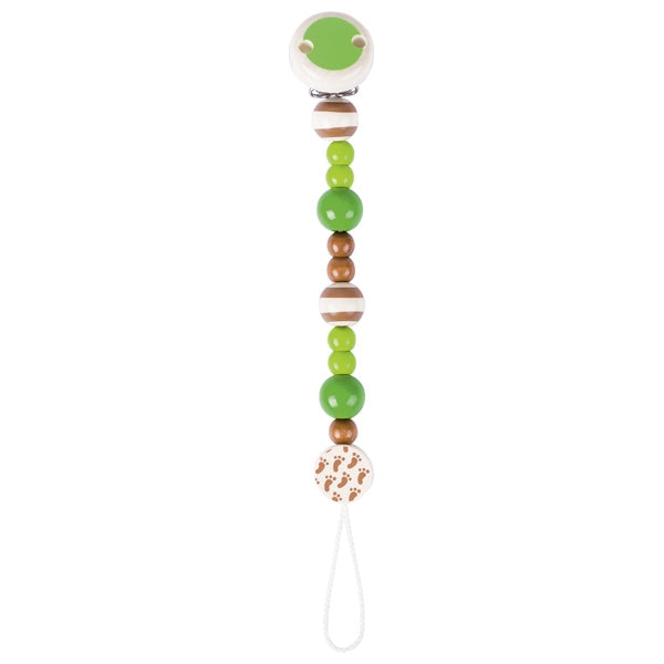 Heimess Soother Chain Light Green / Natural Wood - toybox.ae