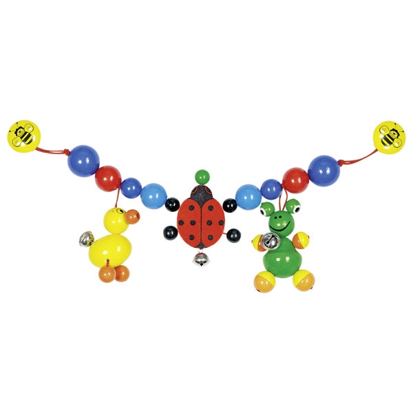 Heimess Pram Chain Duck, Ladybird and Frog with Clips - toybox.ae