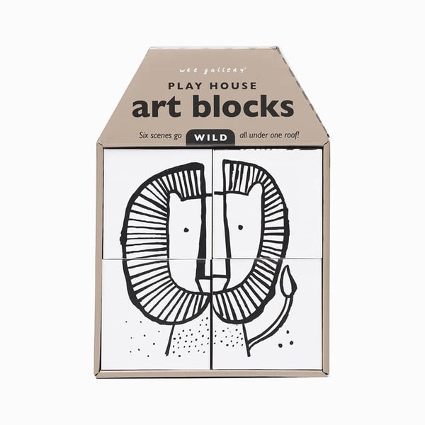 Wee Gallery Play House Art Blocks - Wild - toybox.ae