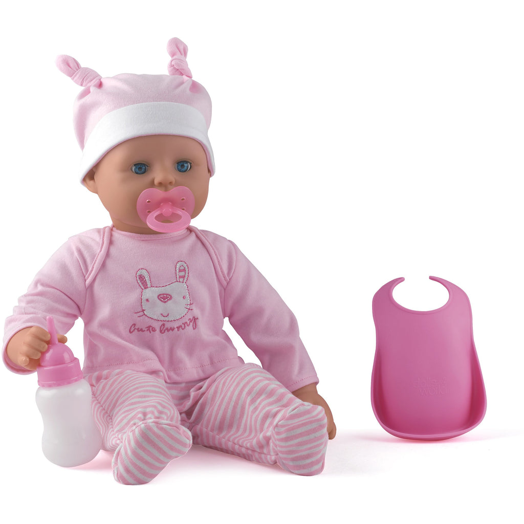 Dollsworld Baby Boohoo - Pink Stripes