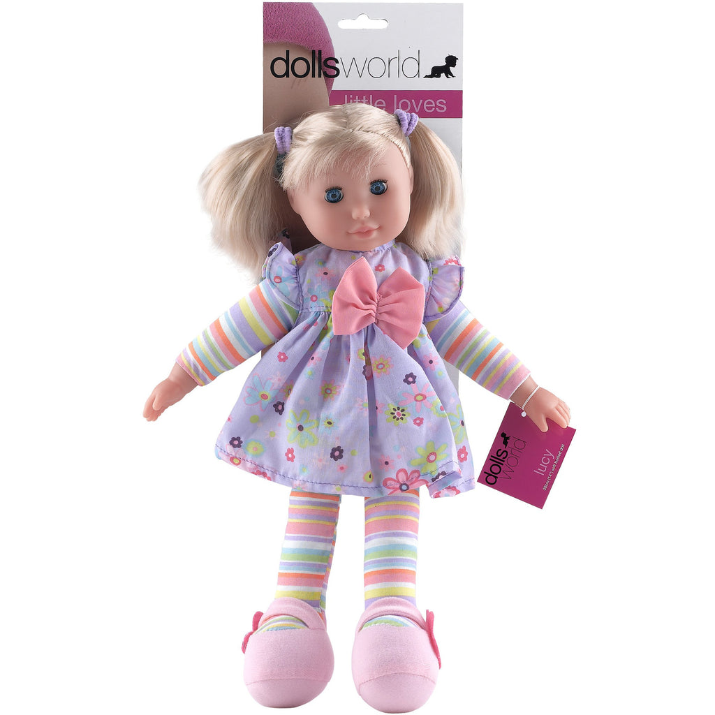 Lucy 36cm (14``) soft bodied doll with hair