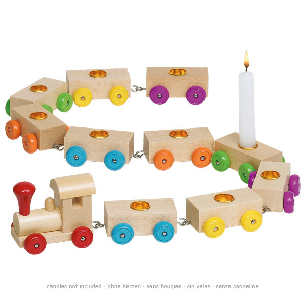 goki wooden birthday train - toybox.ae