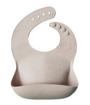 Mushie Silicone Baby Bib Solid Colors - Shifting Sand Terrazzo (NEW COLORS)