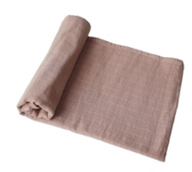 Mushie Swaddle Blanket Organic Cotton - Natural - toybox.ae