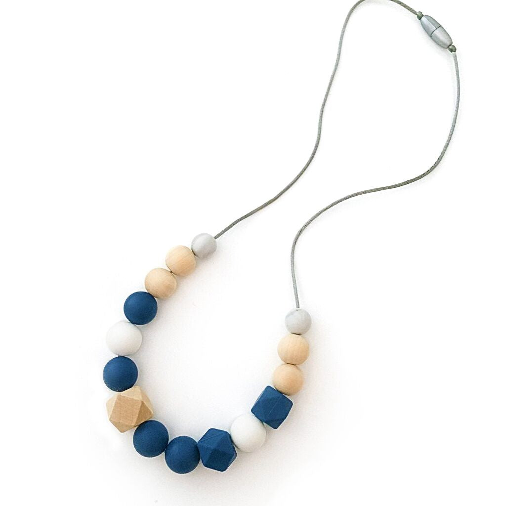 One.Chew.Three - Addison Necklace - Navy