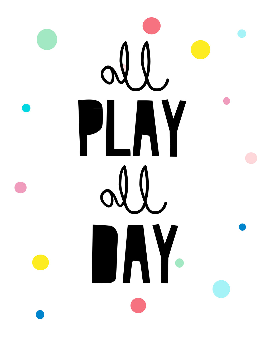 All Play All Day Wall Art Print - toybox.ae
