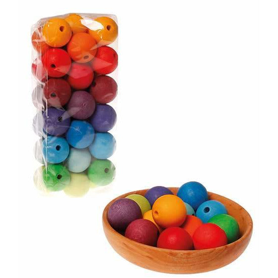 Grimm's 36 Large Wooden Beads
