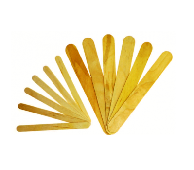 Craft Sticks Natural: Pack of 100 (Medium 1cm x 11cm) - toybox.ae