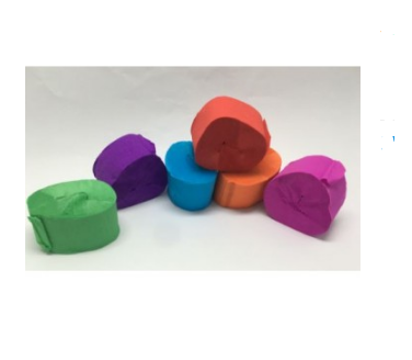 Crepe rolls Pack of 6 COLOURS - toybox.ae