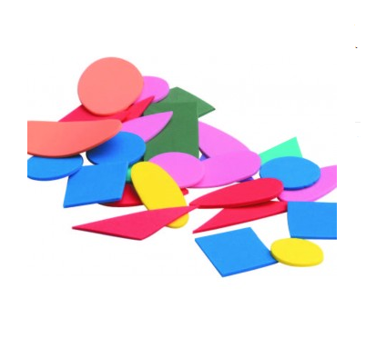 Foam Shapes (13 Assorted Geometric shapes) 6-12cm