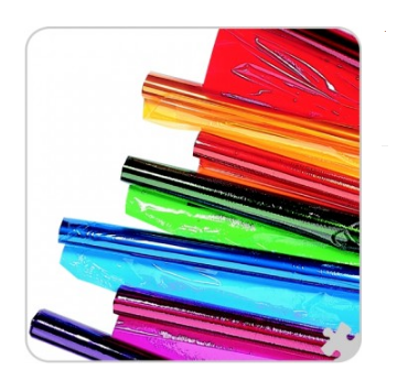 Clear Wrap Assortment Rolls (Pack of 6 colours: Clear, Red, Yellow, Green, Blue, Purple)