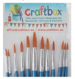 12 pcs Round Acrylic Brush Set - Assorted Sizes - toybox.ae