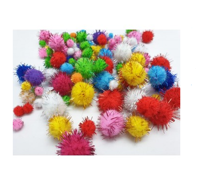 Metallic Pom Pom (+100 balls) 12 - 35mm