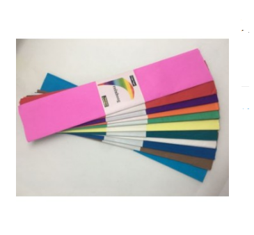 Crepe Paper  Pack of 12 Assorted colours