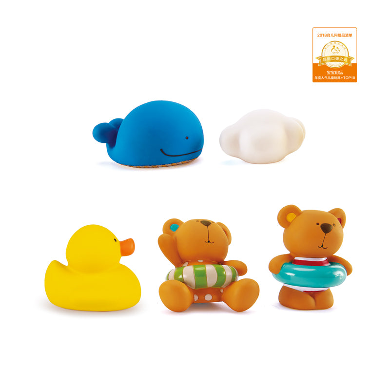 Hape Teddy and Friends Bath Squirts - toybox.ae