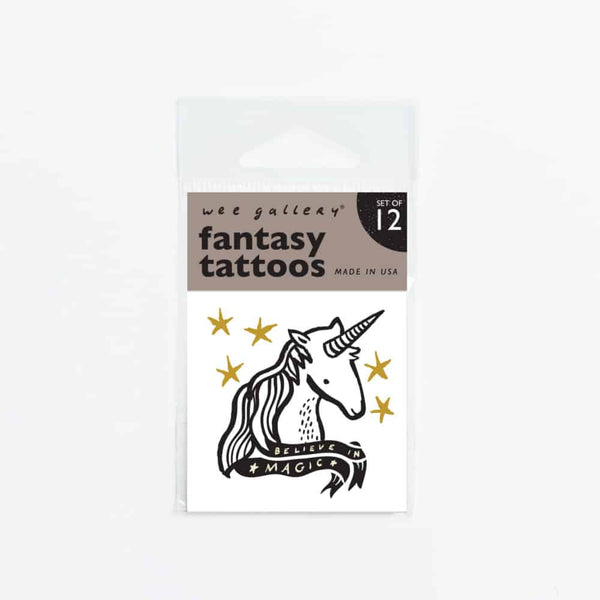 Wee Gallery Fantasy Temporary Tattoos - toybox.ae