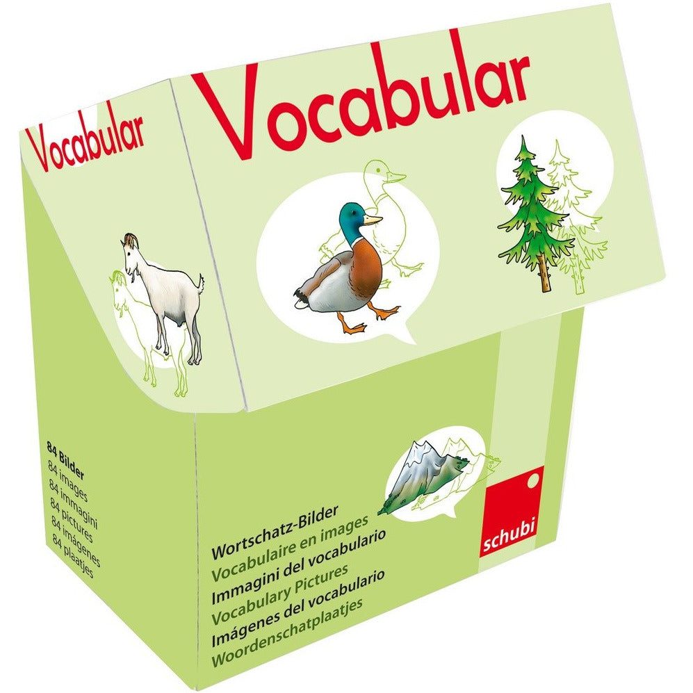 Schubi Vocabulary Picture Cards Animals , Plants , Nature - toybox.ae