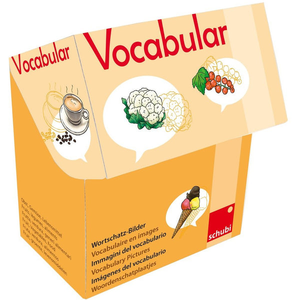 Schubi Vocabulary picture Cards Fruit , Vegetable , Food - toybox.ae