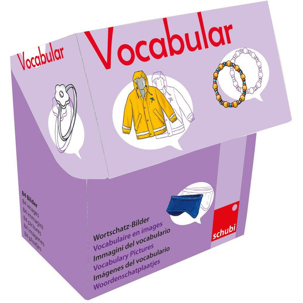 Schubi Vocabulary picture cards - Clothes and Accessories - toybox.ae