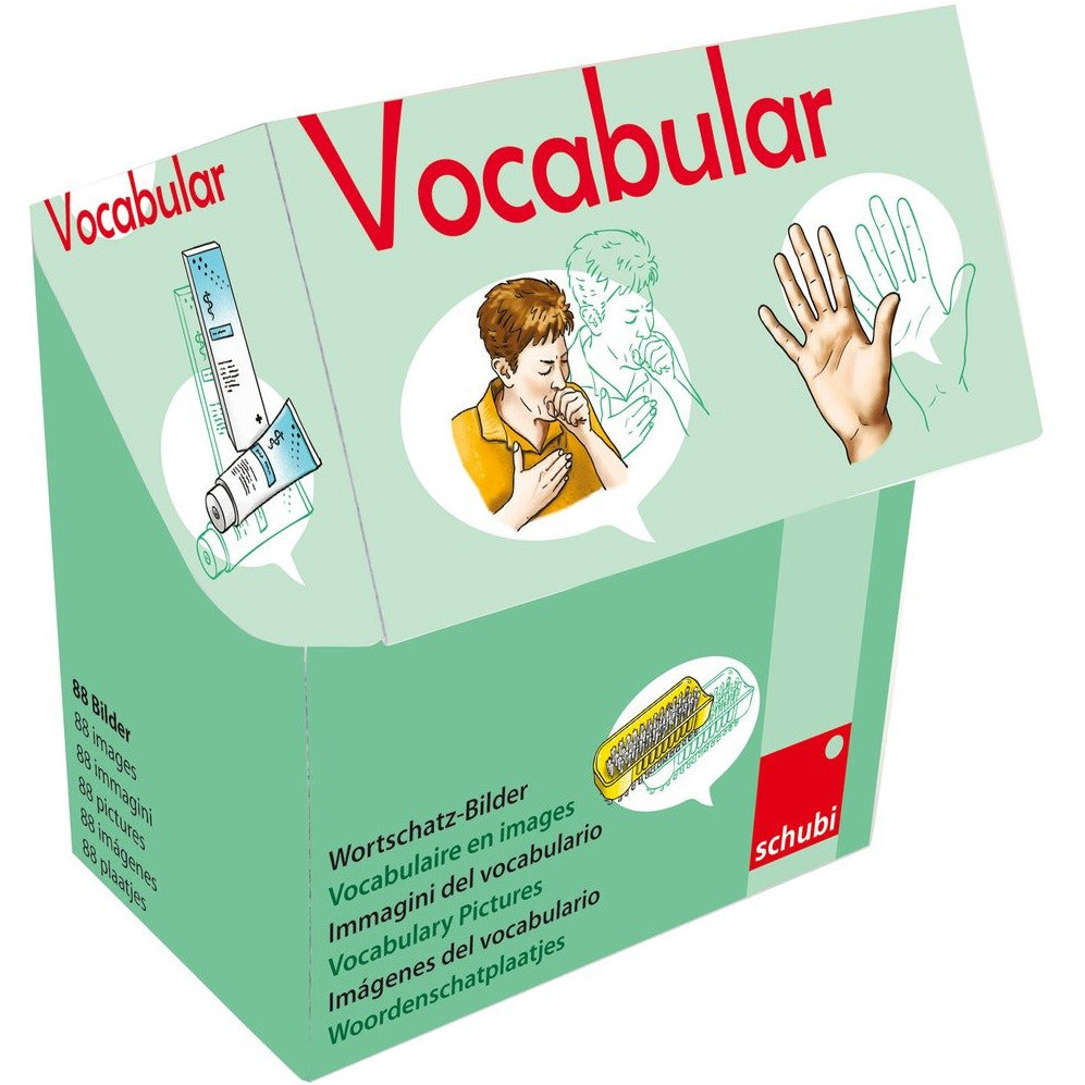 Schubi Vocabulary picture cards - Body , Personal Hygiene... - toybox.ae