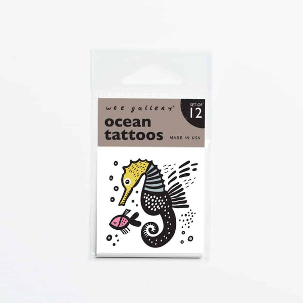 Wee Gallery Ocean Temporary Tattoos - toybox.ae